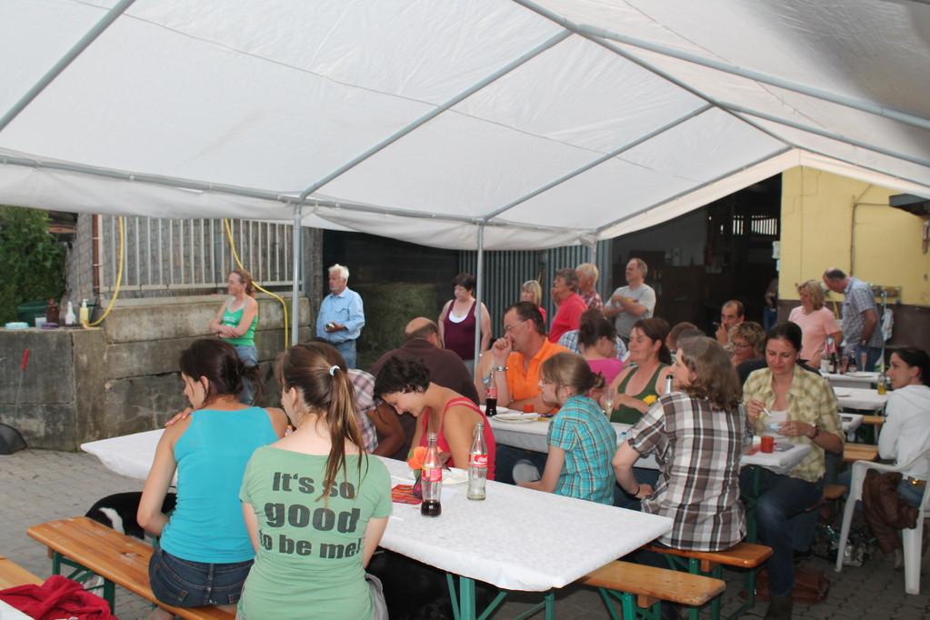 Ein gut besuchtes Sommerfest!