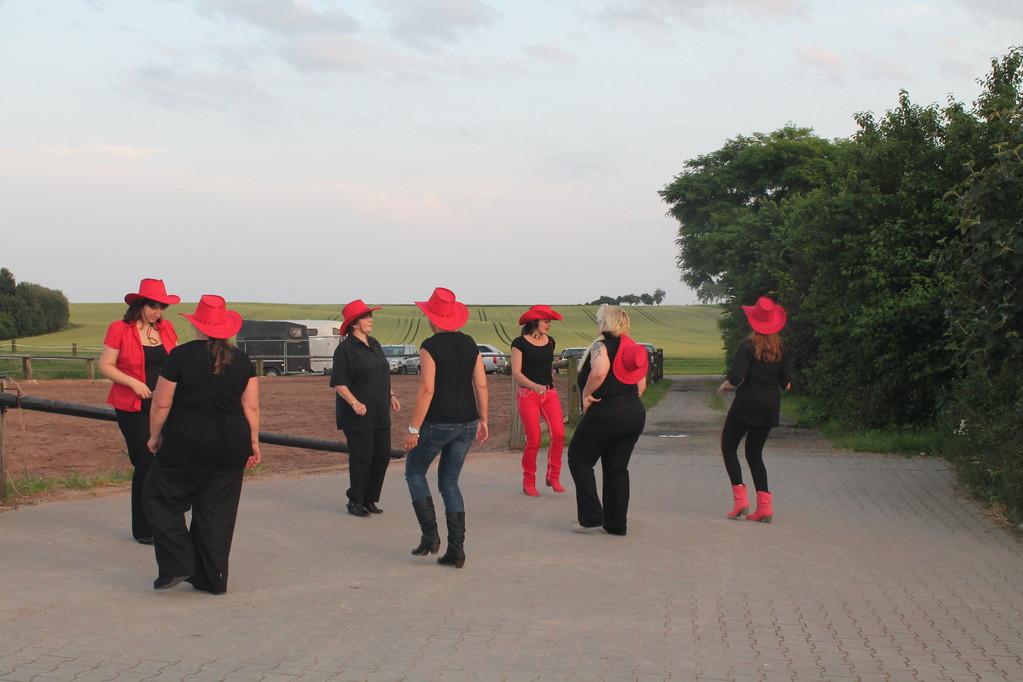 """Die Line-Dance-Group """"Black-Phönix-Dancer"""" gab eine beeindruckende Show zum Besten."""