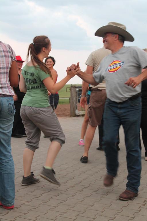 Sichtlich machte das Tanzen viel Spaß.