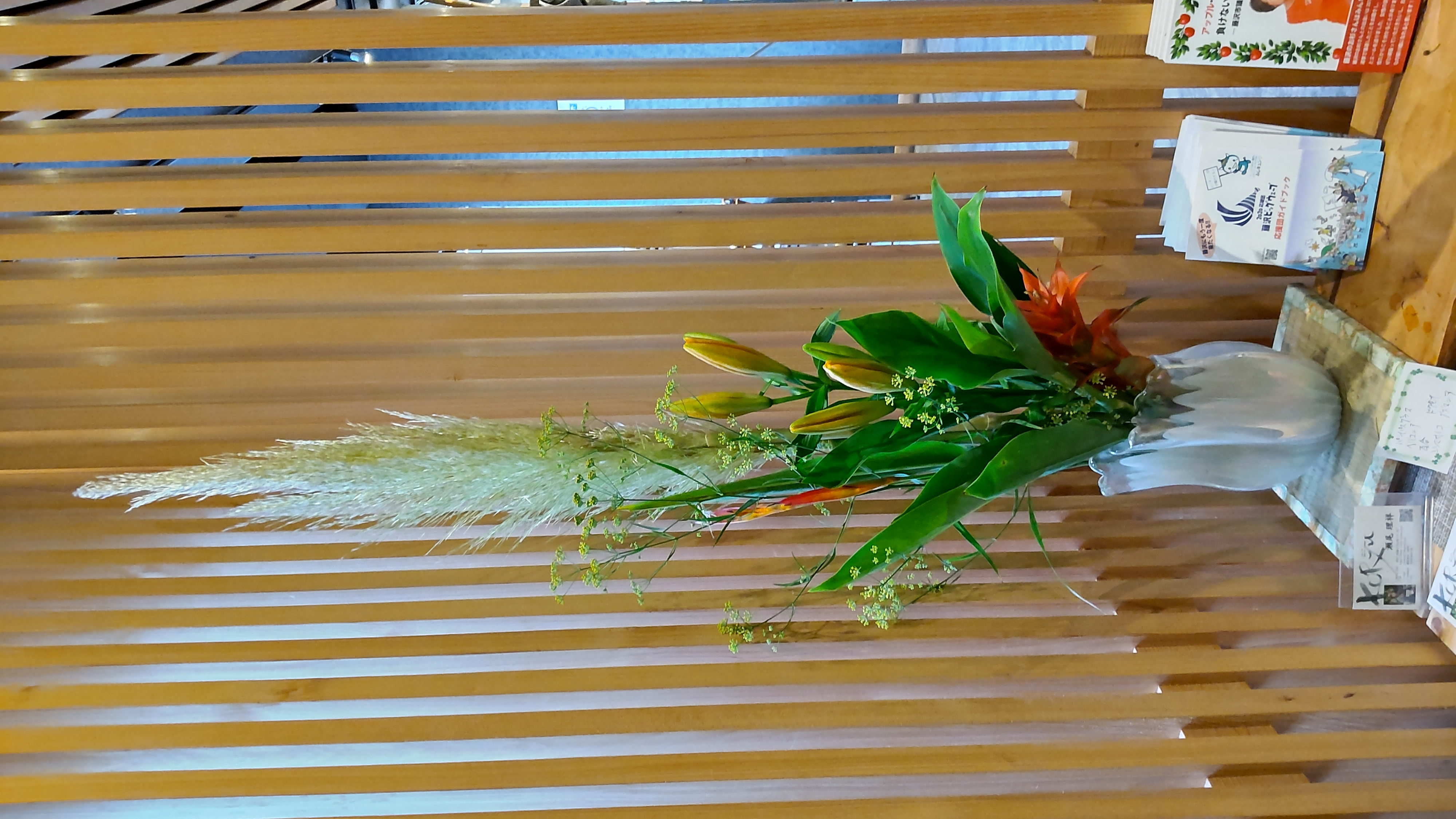 甚伍朗様に飾ったお花