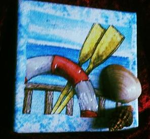 """Dieses kleine Bild ist eines von vielen  """"Mitbringseln"""" - 10 x 10 cm Leinwand-Keilrahmen"""
