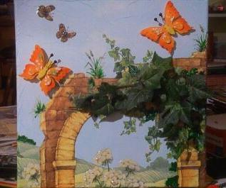 """""""Romantischer Bogen"""" nennt sich dieses Bild - 30 x 30 cm Leinwand-Keilrahmen"""