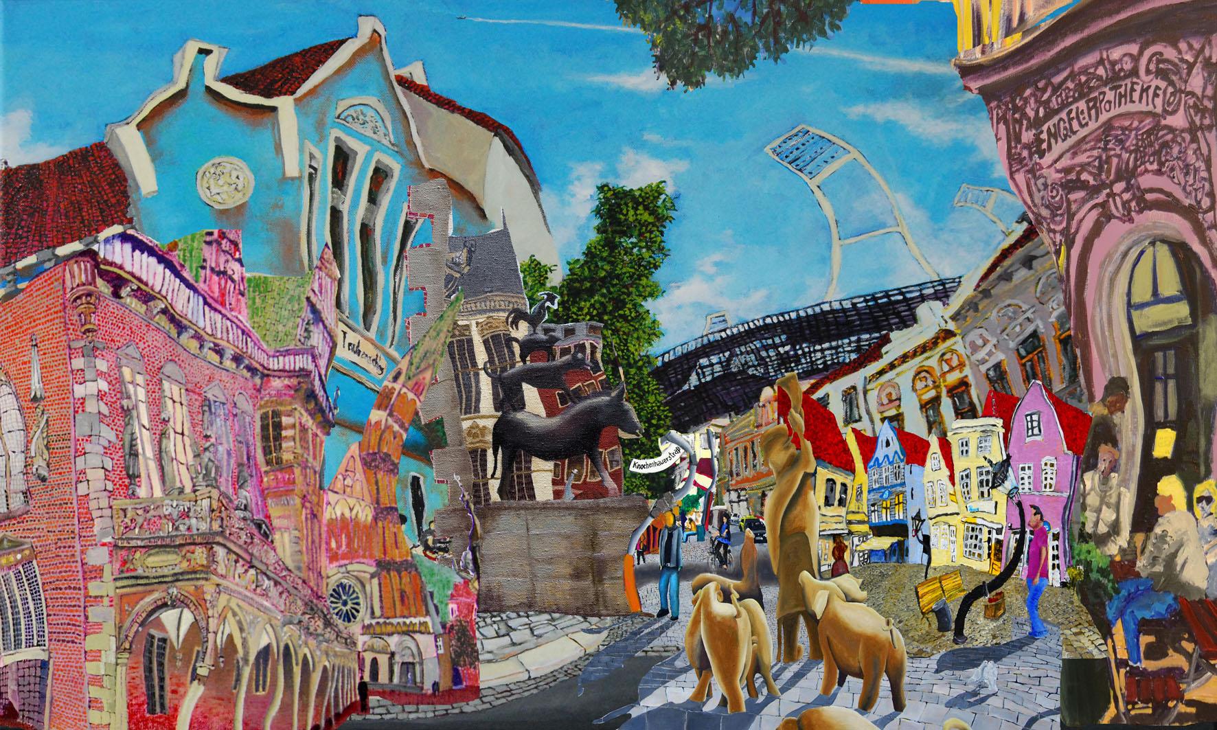 Collate de Todo Bremen/Digital-kunst-Collage(Als Reproduktion verfügbar)