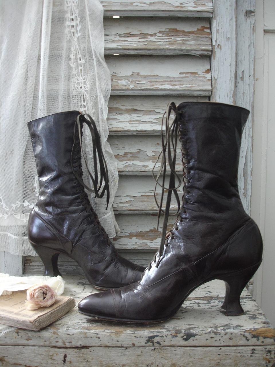 schuhe boots viktorianische schuhe schn rstiefel knopfstiefel antike babyschuhe baby. Black Bedroom Furniture Sets. Home Design Ideas
