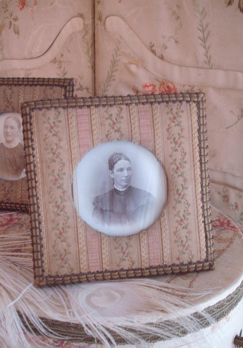 Portraits + Rahmen: Ölgemälde, Herrenporträt, Damenporträt ...
