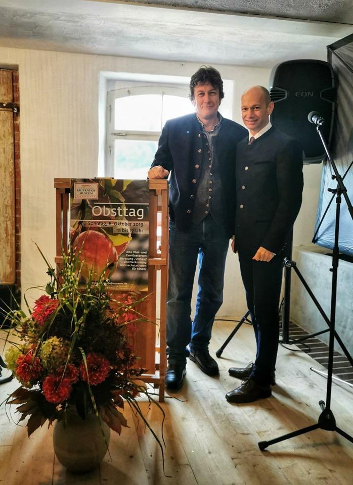 Die Lindauer Vertreter beim Obsttag im Bauernhofmuseum in Illerbeuren