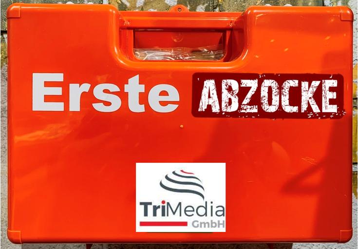 Abzocke TriMedia GmbH: Toner und erste-Hilfe-Koffer
