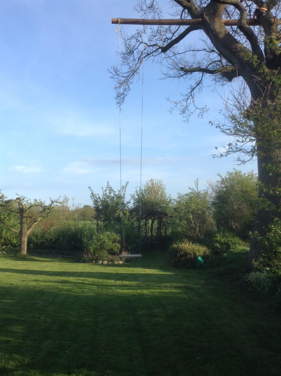 Und nun zum Schluss unsere fast 10 m hohe Schaukel.