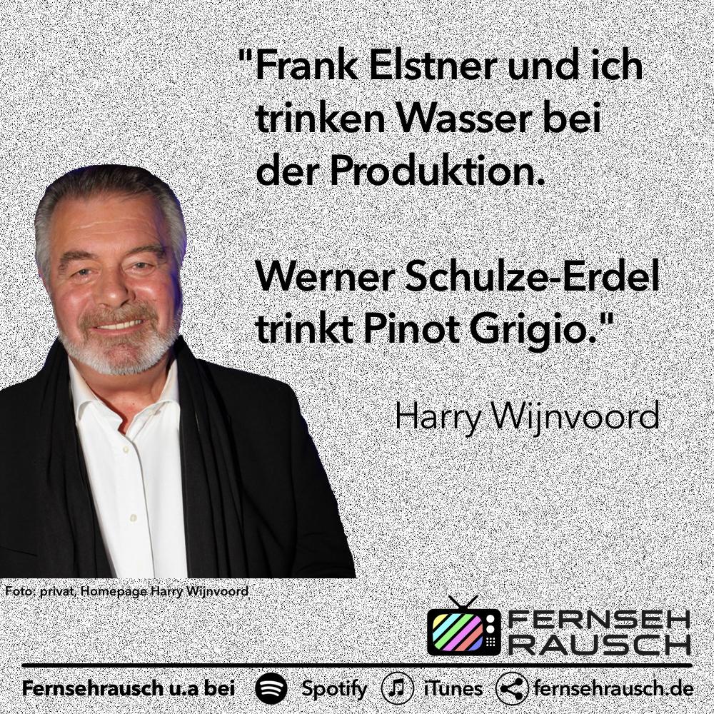 Mit Frank Elstner und Werner Schulze-Erdel hat Wijnvoord sich eine Garderobe geteilt - und einen Kühlschrank.