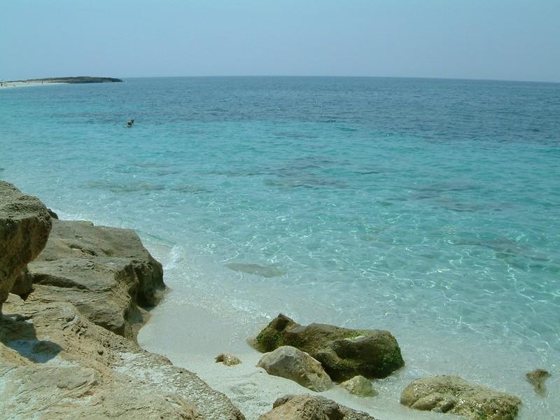 Strand von Is Arutas auf der Sinis Halbinsel, Reiskornstrand