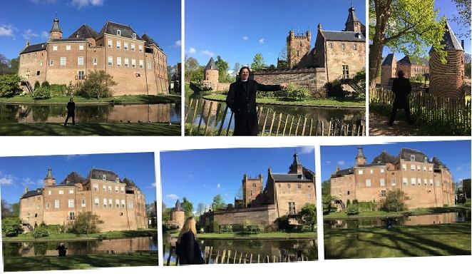 25 Kilometer südöstlich der niederländischen Großstadt Arnheim, 4 Kilometer westlich der Grenzlinie Deutschland/Niederlande: Kasteel (Schloss) Huis Bergh...