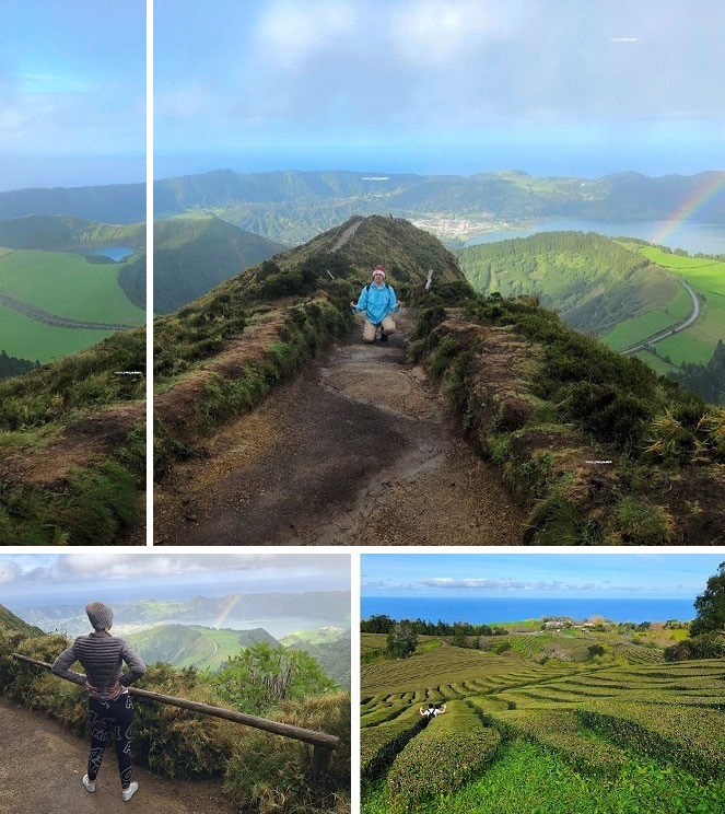 """""""Merry Green Christmas from the Atlantic Ocean: Azores, Miradouro da Boca do Inferno. Christmas between <Cape Spear/Canada (1,196 mi) and continental Portugal (>1,021 mi) #MerryChristmas #Hunting #Rainbows in the #Atlantic #Ocean."""""""
