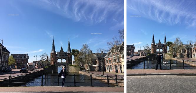 Eine wundervolle Affäre bzw. alles andere als skandalös: keine ein zweites Mal anzutreffende Architektur in den Niederlanden - Sneek Watergate...