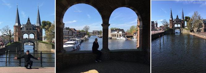 Dieses mit Sandstein verzierte Ziegelgebäude schützte einst kostbare Ladungen wie Tee und Prokat: Waaterpoort bzw. Watergate, am ehemaligen Hafeneingang von Sneek...