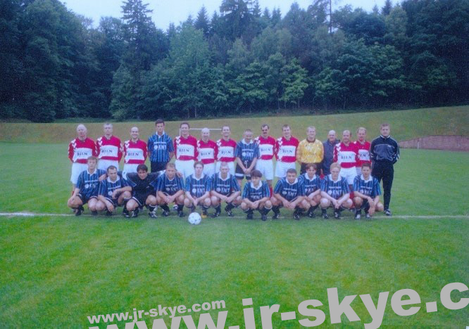Just before one of our matches against VfB Oberndorf (in Oberndorf)...