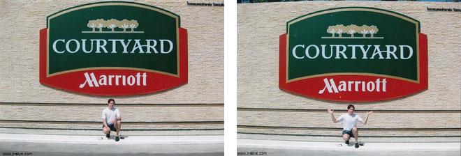 """Immer wieder Marriott. Die Marke """"Courtyard"""" ist vornehmlich - nicht ausschließlich - auf Geschäftsreisende ausgerichtet (""""business-oriented"""") und mit über 1.000 Hotels in 47 Ländern, überwiegend jedoch in den USA, vertreten..."""