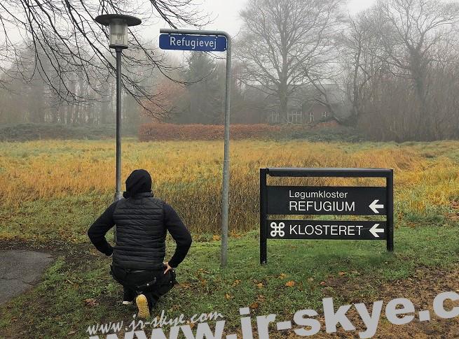 Nebel im Staate Dänemark (55° 3′ 25″ N, 8° 57′ 12″ E). Vorab: På gensyn!