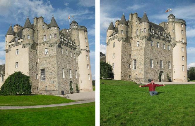 Castle Fraser/Glamis Castle (56° 37′ 13.08″ N, 3° 0′ 8.64″ W), Angus, Scotland...
