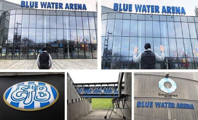 In addition to 800 libraries and much more museums, I visited the biggest & smallest stadiums (>1,000) in 161 countries: Blue Water Arena, Esbjerg, Denmark (55° 28′ 55.05″ N, 8° 26′ 21.99″ E)!