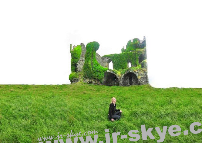 The Unforgettable Fire, Part II - das etwas düstere Ballycarbery Castle, Cahersiveen/Kerry...