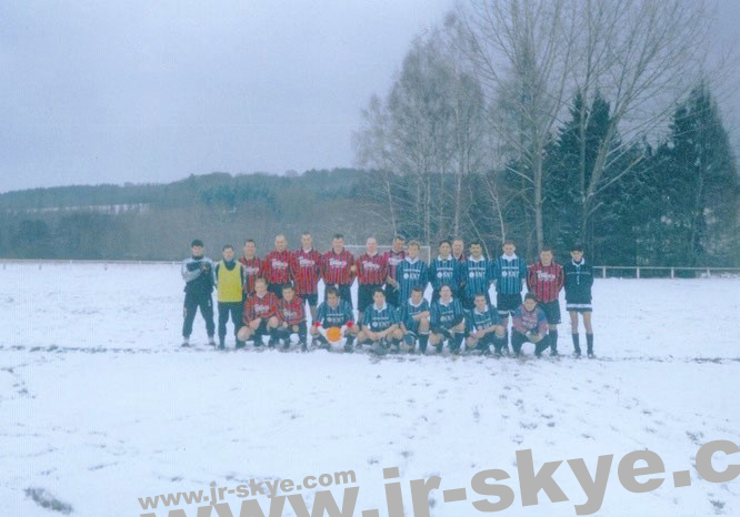 "My A-Team played in the deepest winter against SV Brachttal, 60 km east of Frankfurt. I´m sitting, 3th from right. ""Football is about joy. It's about dribbling. I favour every idea that makes the game beautiful. Every good idea has to last."" Ronaldinho"