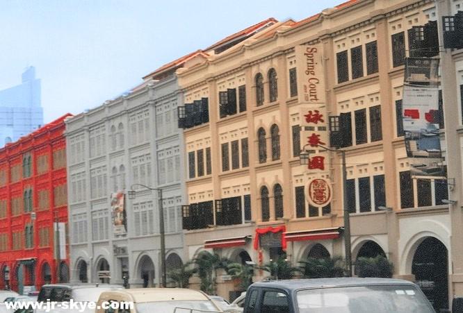 Business, wie es in den (alten) Büchern steht: Das 2 Quadratkilometer große China Town (1821 gegründet, hier typische Kolonialstil-Architektur)...