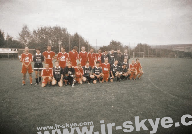 "A match against danish football club ""ISS Skjold Skævinge"" (Idrætsforeningen Skjold Skævinge) in Steinau (70 km east of Frankfurt)..."