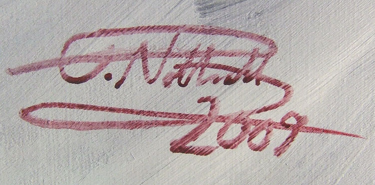 Signature of the artist Peter Nottrott and year of creation: 2009