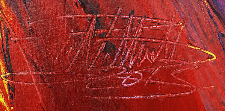 signature of the artist Peter Nottrott and year of creation