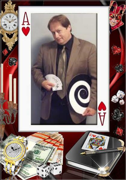 B.J. Talley jetzt als Zauberkünstler und Hypnotiseur. Website: Klick aufs Bild