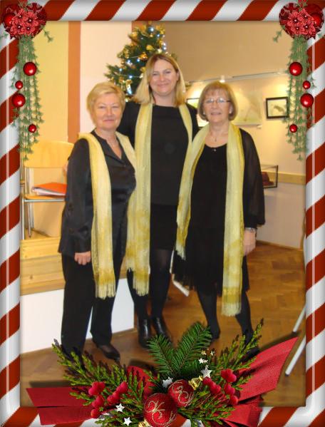 Arbeitersängerbund Favoriten: Chorleiterin Mag. Aleksandra Akhtarshenas (Mitte), Johanna, beste Altstimme (links), Erni, Sopran und Co-Dirigentin (rechts)