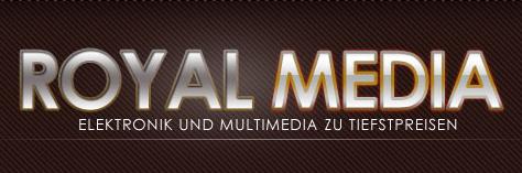 Printscreen von der Website 'Royal Media'