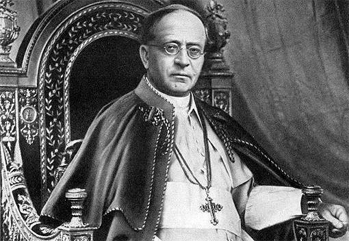 Papst Pius XI., Urheber der Enzyklika 'Quadragesimo anno'