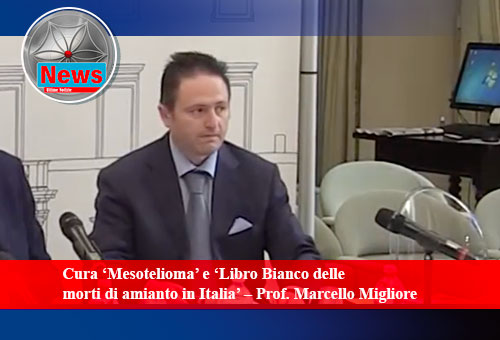 """Cura """"Mesotelioma"""" -  libro bianco delle morti di amianto in Italia - M.Migliore"""