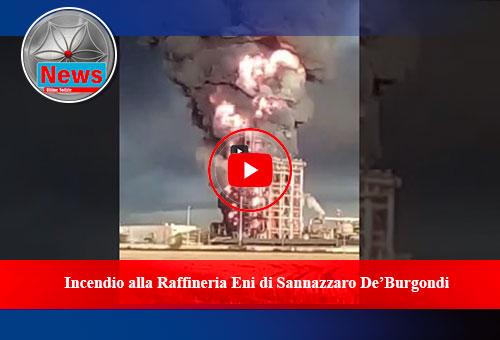 Eni incendio Sannazzaro