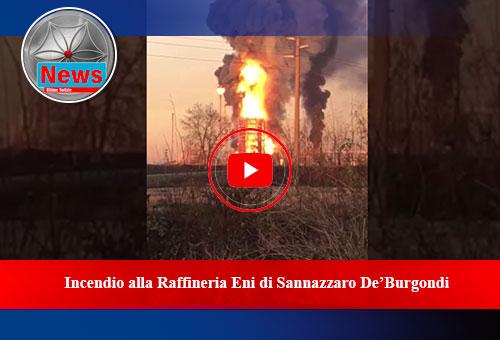 ncendio alla raffineria ENI di Sannazzaro de' Burgondi - Clip 2