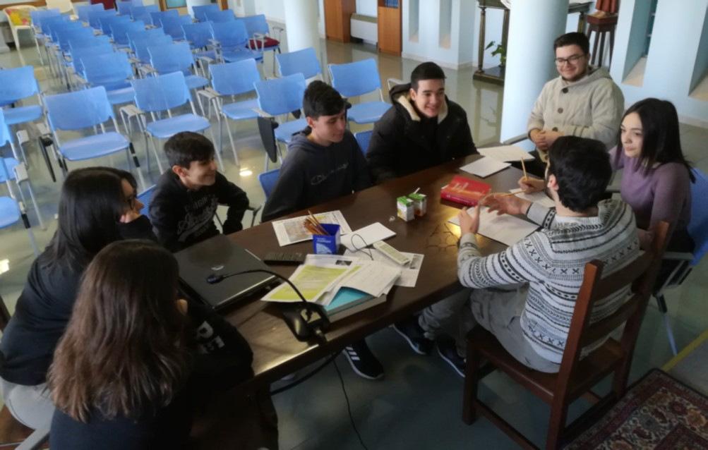 dialogo e riflessioni a gruppetti