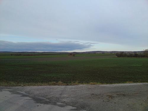 Blick über das Land. -