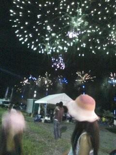 太悳の演奏が終わると、オープニング花火が始まりました。
