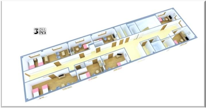 入居部屋などの3階見取り図