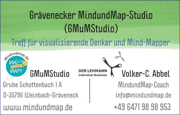 GMuMStudio-Visitenkarte des Initiators Volker-C. Abbel MindundMap-Coach (GMuMStudio)