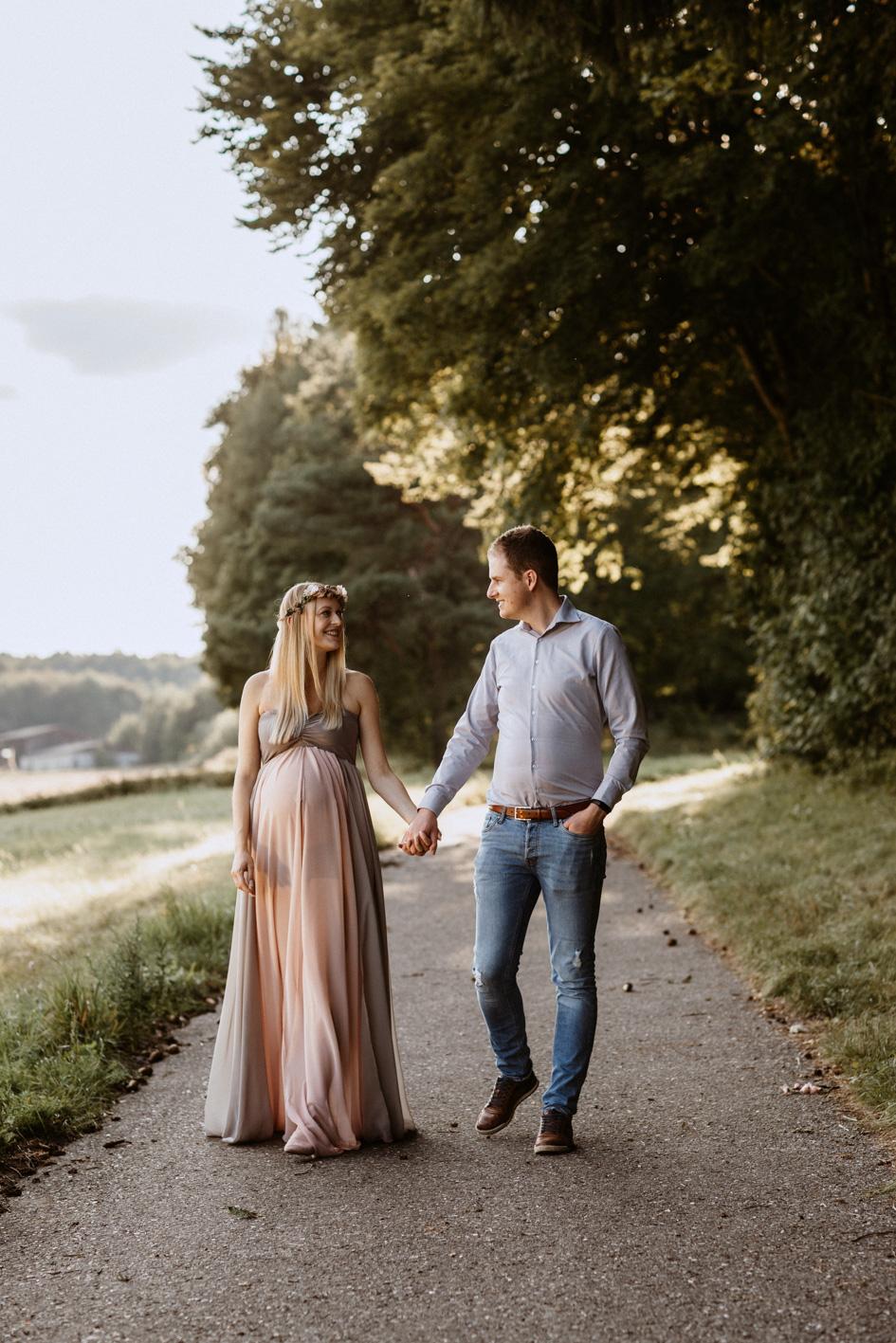 Familienfotos in der Schwangerschaft