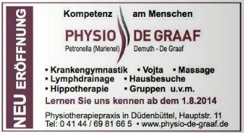 Anzeige aus dem Neuen Stader Wochenblatt vom 30.07.14