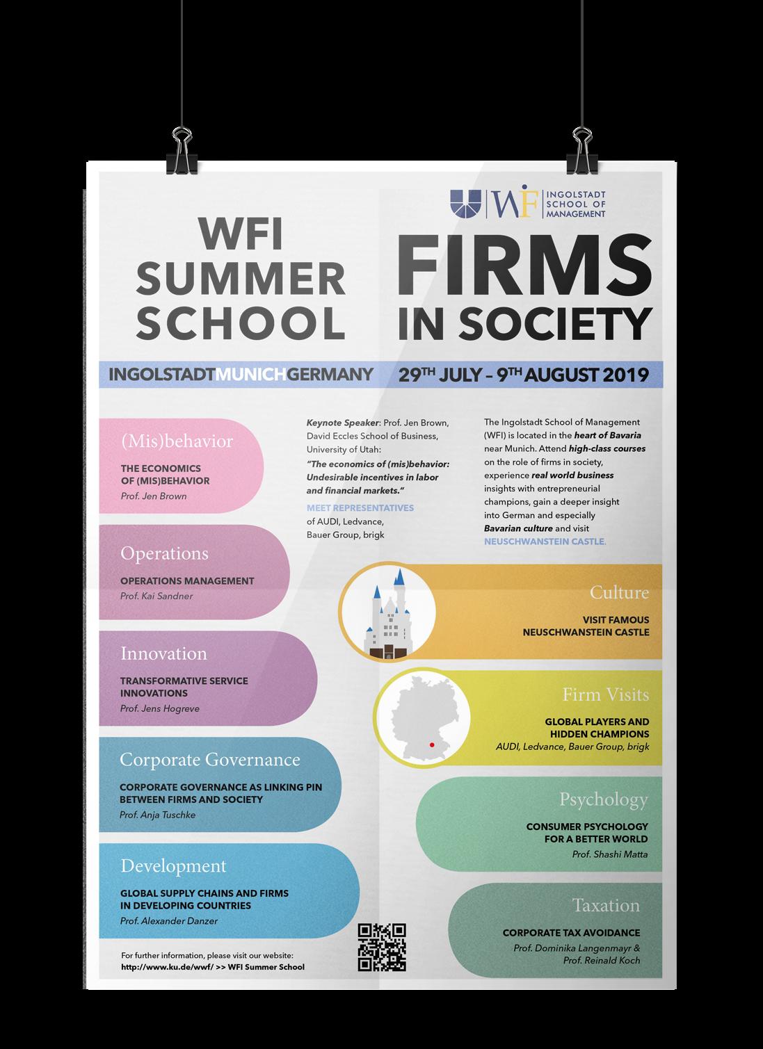 Plakatgestaltung, Kunde: WFI, Universität Ingolstadt
