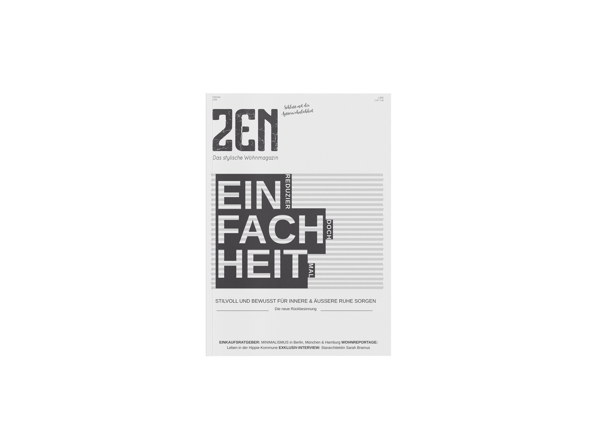 Editorialdesign, Magazin-Cover, freie Arbeit aus dem Studium