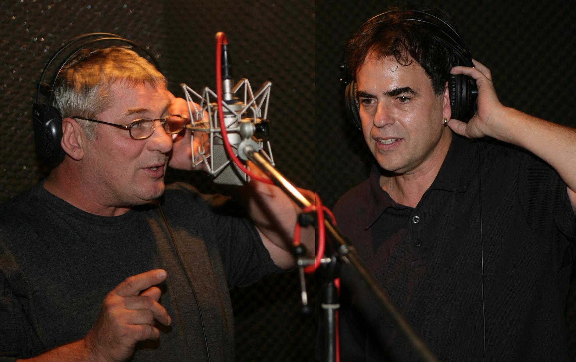 """Studioaufnahmen mit Heinz Hoenig für """"Rose unter Dornen"""""""