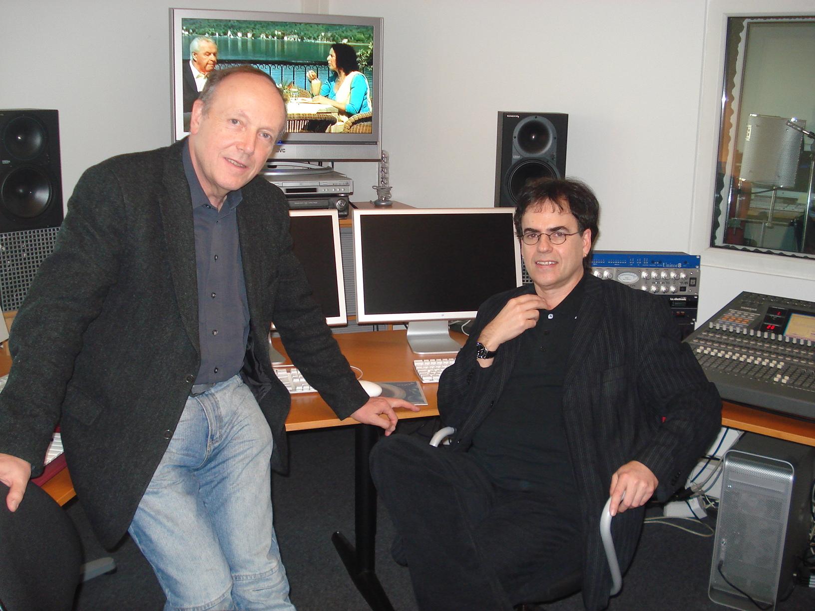 """Musikabnahme im Klangweltstudio mit Regisseur Peter Weissflog für """"Der Arzt vom Wörthersee"""""""