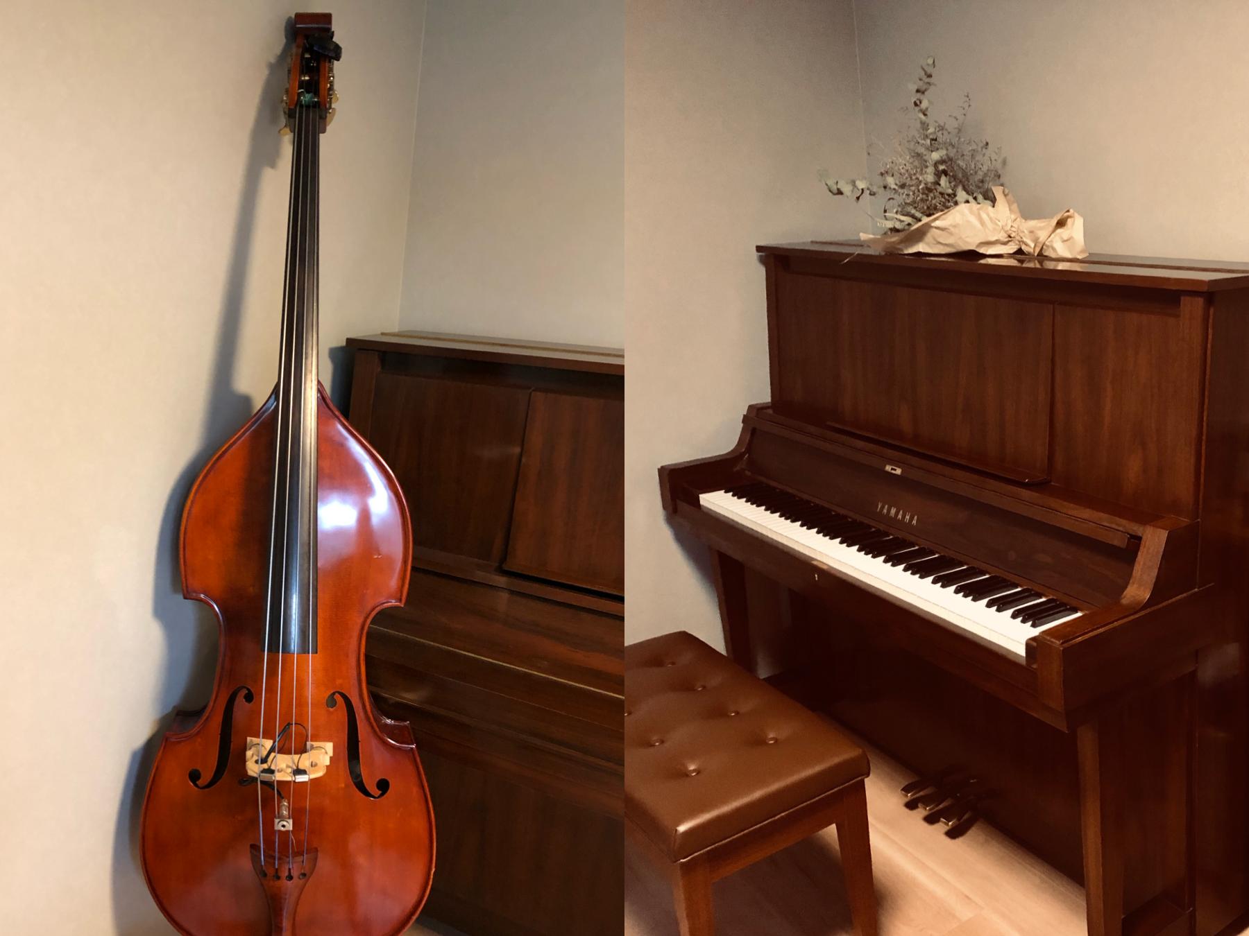 上級者の方へはベースとのアンサンブル練習やピアノを使った音楽理論解説なども