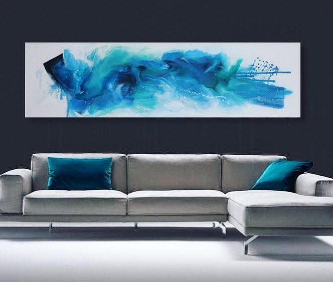 """""""oceanary love""""  (querformatig)  Größe 50 x 180 x 4 cm"""