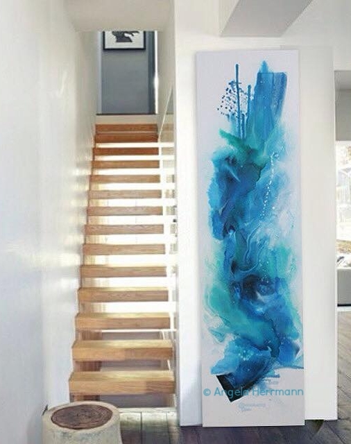 """oceanary love""  (hochformatig)  Größe 50 x 180 x 4 cm"